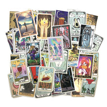 Load image into Gallery viewer, Tarot card style stickers - 50 pieces