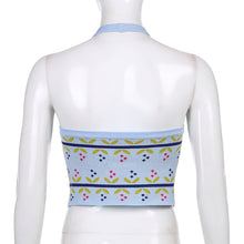 Load image into Gallery viewer, 'Meredith' Knitted Halter Crop Top