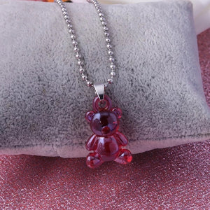 Teddy Bear ball chain necklace - 5 colours