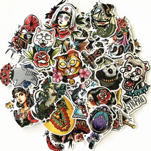 Load image into Gallery viewer, Old school tattoo stickers - 50 pieces