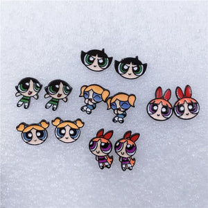 Powerpuff girls earrings - 6 styles