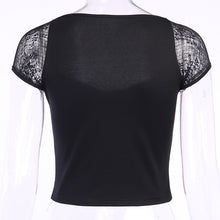 Load image into Gallery viewer, 'Esme' lace up crop top