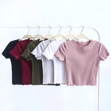 Load image into Gallery viewer, 'Pipa' basic ribbed crop top - 6 colours