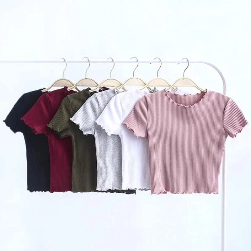 'Pipa' basic ribbed crop top - 6 colours