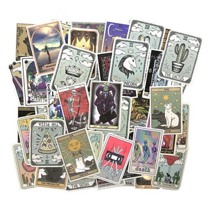 Tarot card style stickers - 50 pieces