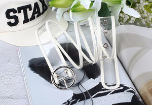 Clear lined belt - 3 colours, 3 shapes
