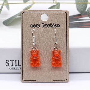 Gummy bear resin earrings - 8 colours