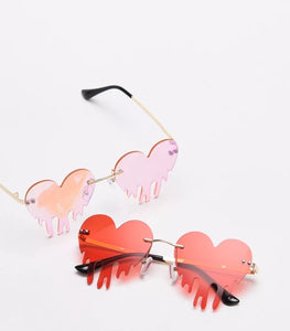 Drip Heart Glasses - 9 colours