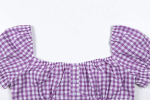 'Spring day' gingham crop top - 2 colours