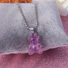 Load image into Gallery viewer, Teddy Bear ball chain necklace - 5 colours