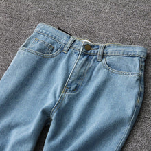 Load image into Gallery viewer, 'Throwback' high waist denim mom jeans - dark wash & light wash