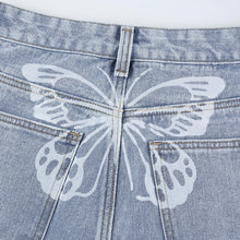 Load image into Gallery viewer, 'Falling Behind' Butterfly Bleached Jeans
