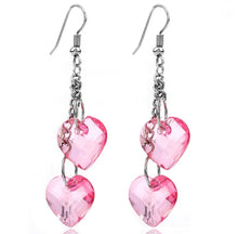 Load image into Gallery viewer, Heart dangle earrings -  7 colours