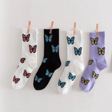 Load image into Gallery viewer, Butterfly socks - 4 colours