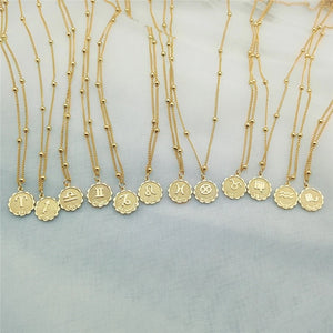 Horoscope necklaces - silver & gold