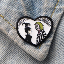 Load image into Gallery viewer, 'Beetlejuice' enamel pin
