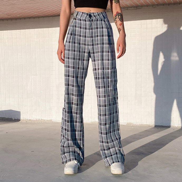 'Karla' Plaid Trousers