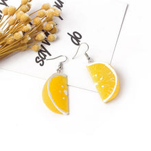 Load image into Gallery viewer, Lemon earrings