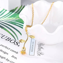 Load image into Gallery viewer, Rose pendant necklace - 3 colours