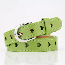 Load image into Gallery viewer, Heart faux leather belt - 8 colours