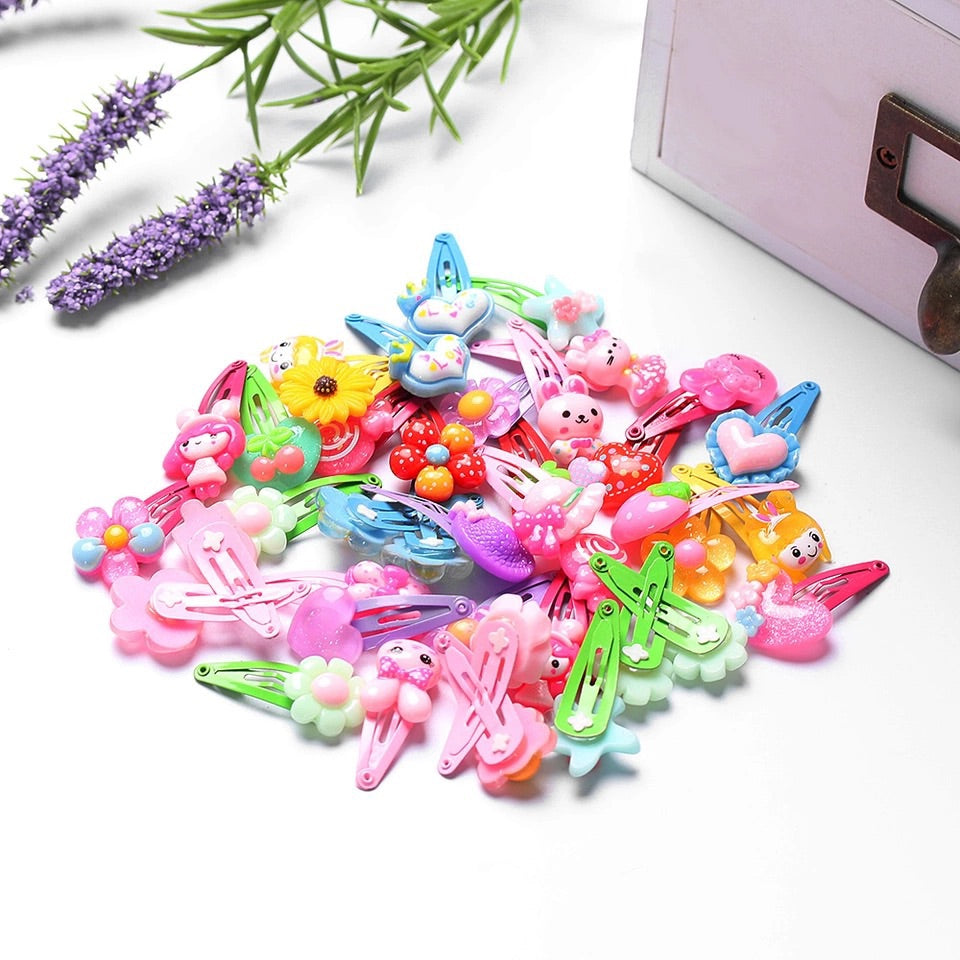 Lucky dip resin hair clips