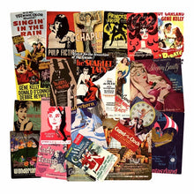 Load image into Gallery viewer, Retro movie poster stickers - 44 pieces