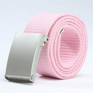 Canvas metal buckle belt - 18 colours