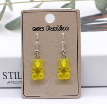 Load image into Gallery viewer, Gummy bear resin earrings - 8 colours