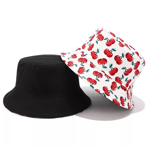 'Ryenne' cherry print bucket hat - 2 colours