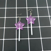 Load image into Gallery viewer, Star shaped lollipop earrings - 5 colours