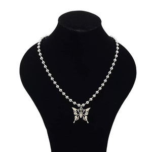 Butterfly ball chain necklace - 2 styles
