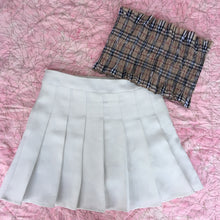Load image into Gallery viewer, 'Breeze' pleated tennis skirt - black, white, red, pink & navy blue
