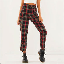 Load image into Gallery viewer, 'Clara' plaid high waist pants