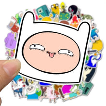 Load image into Gallery viewer, Adventure Time stickers - 50 pieces