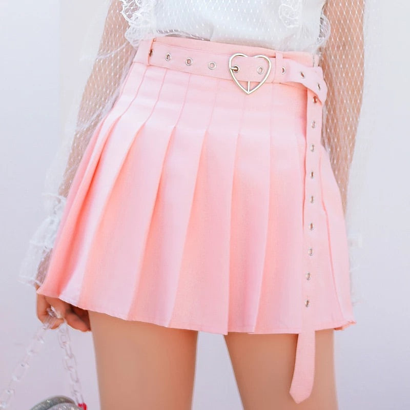 'Full of love' tennis skirt & belt - 3 colours