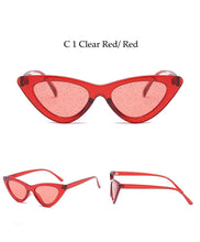 Load image into Gallery viewer, Glitter lens cat eye glasses- 7 colours