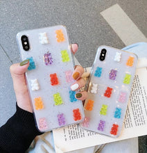 Load image into Gallery viewer, Glitter Gummy Bear iphone case