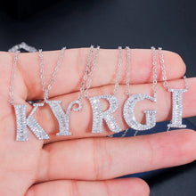 Load image into Gallery viewer, Rhinestone custom letter necklace
