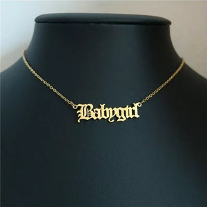 Name plate necklace - 5 styles + customise your own!