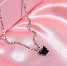 Load image into Gallery viewer, Rhinestone butterfly choker - 10 colours