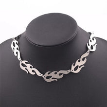Load image into Gallery viewer, Silver flame choker