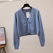 Load image into Gallery viewer, 'Everly' knitted crop cardigan - 7 colours