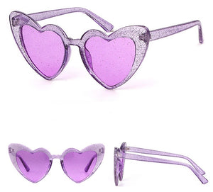 Heart shape glitter glasses - 8 colours
