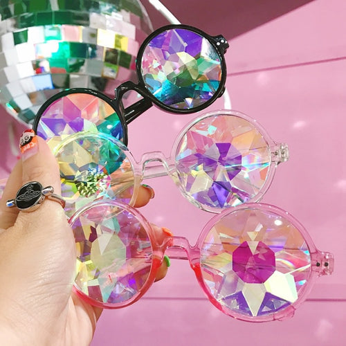 Kaleidoscope festival glasses - 3 colours