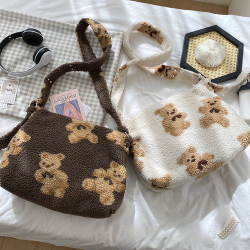 Teddy Bear Adjustable Shoulder Bag - 3 Colours