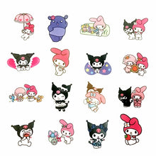 Load image into Gallery viewer, My Melody & Kuromi stickers - 50 pieces