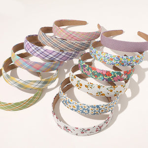 Pastel Print Headbands - 12 Colours