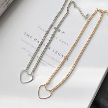 Load image into Gallery viewer, Heart choker - silver & gold