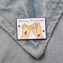 Load image into Gallery viewer, 'Pinky promise' enamel pin