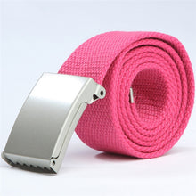 Load image into Gallery viewer, Canvas metal buckle belt - 18 colours